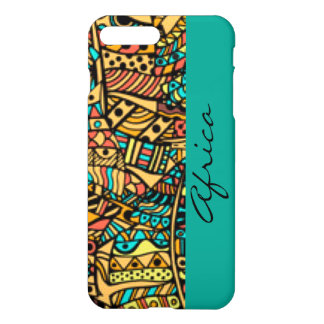 African Pattern Print Design Typography iPhone 8 Plus/7 Plus Case