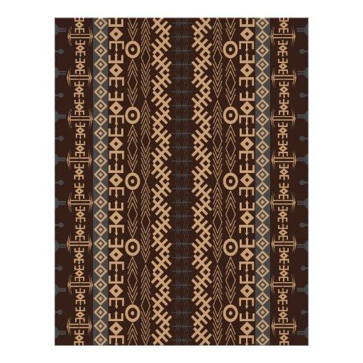 African pattern style vol35 customized letterhead