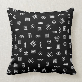 African Pattern Throw Pillow