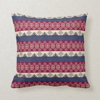 african  pattern with Adinkra simbols Throw Pillow
