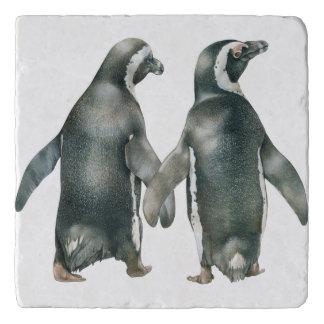 African Penguin Pair Trivet
