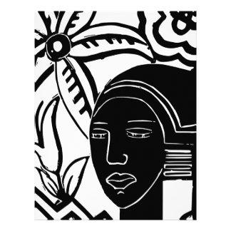 African Phantasy Letterhead Template