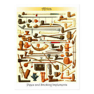 African Pipes and Smoking Implements Postcard
