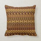 African pixels throw pillow