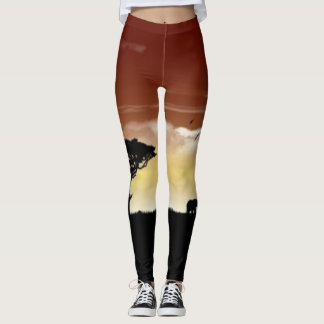 African Plains Leggings