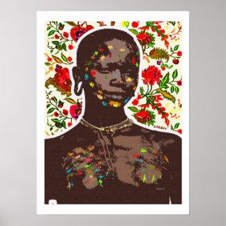 African Pop Art Poster