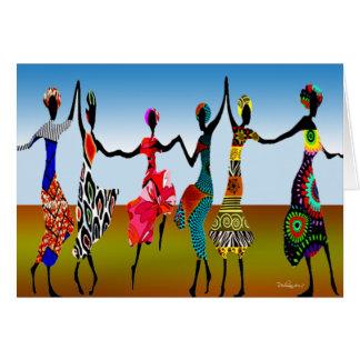 African Praise Dance Card