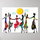 African Praise Dance Poster
