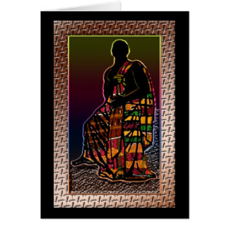 African Praying Man Card