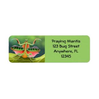 African Praying Mantis Label Return Address Label