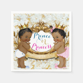 African Prince or Princess Gender Reveal Napkin Disposable Napkins