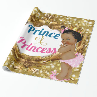 African Prince or Princess Glitter Gift Wrap