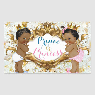African Prince & Princess Gender Reveal Stickers