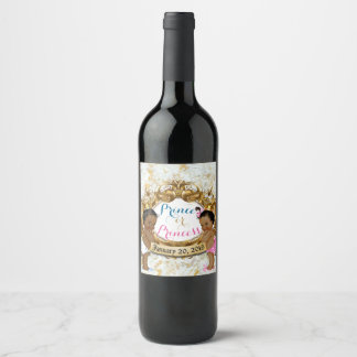 African Prince/Princess Gender Reveal Wine Labels