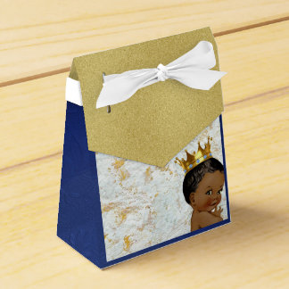 African Prince Royal Baby Shower Favor tent box