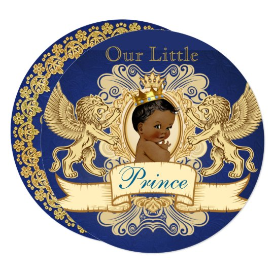 African Prince Royal Baby Shower Invitations
