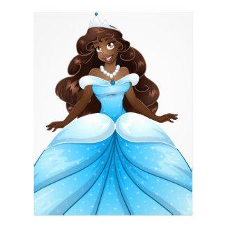 African Princess In Blue Dress Customized Letterhead