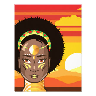 African Princess Personalized Letterhead