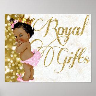 African Princess Royal Gifts Poster Sign
