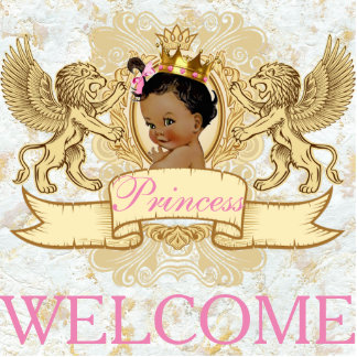African Princess Royal Welcome Photo Statue Standing Photo Sculpture