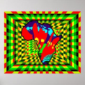 African Print Ankara Painted and Check Pattern