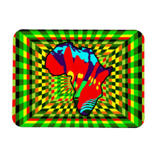 African Print Ankara Painted and Checkered Pattern Magnet