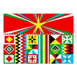 African Print Design Kente Cloth Tribal Pattern Card