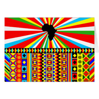 African Print Kente Cloth Tribal Pattern Ankara Card