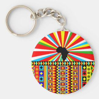 African Print Kente Cloth Tribal Pattern Ankara Keychain