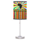 African Print Kente Cloth Tribal Pattern Ankara Table Lamp