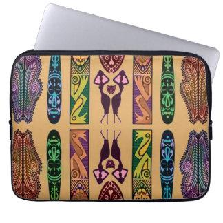 African Print Laptop Case