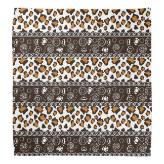 African print with cheetah skin pattern bandana