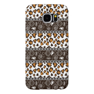 African print with cheetah skin pattern samsung galaxy s6 cases