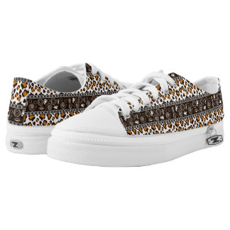 African print with cheetah skin pattern Low-Top sneakers