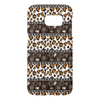 African print with cheetah skin pattern samsung galaxy s7 case
