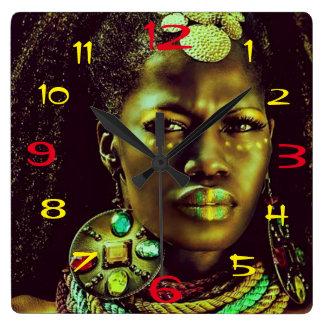 African Queen Clock