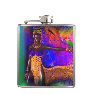 African Queen Hip Flask