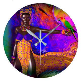 African Queen Large Clock