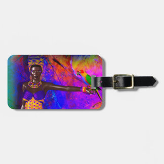 African Queen Luggage Tag