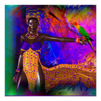 African Queen Perfect Poster