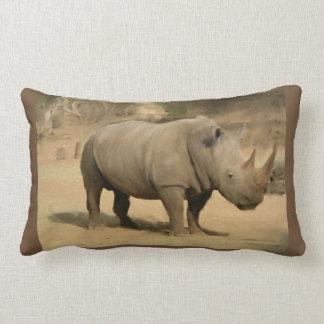 African Rhino Lumbar Pillow