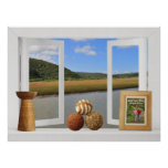 African River View -- Customizable Open Window Poster