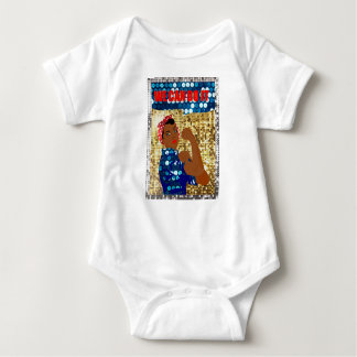 african rosie the riveter baby bodysuit