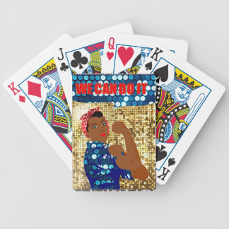 african rosie the riveter bicycle playing cards
