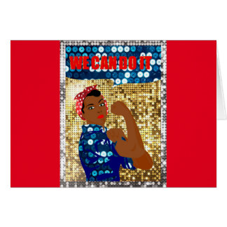 african rosie the riveter card