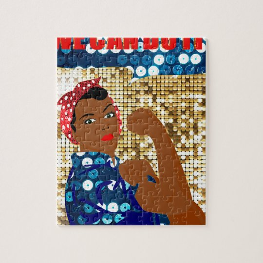african rosie the riveter jigsaw puzzle