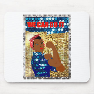african rosie the riveter mouse pad