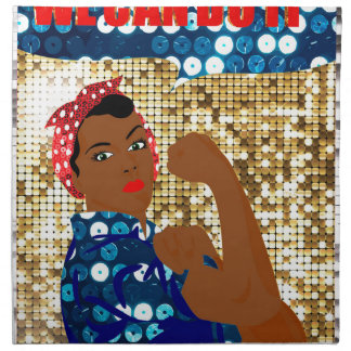 african rosie the riveter napkin