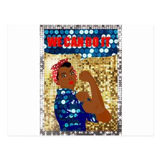 african rosie the riveter postcard