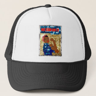 african rosie the riveter trucker hat